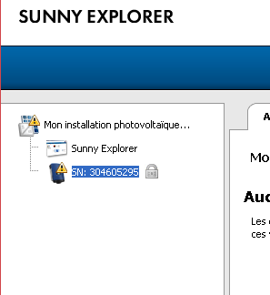 Sunny Explorer : enregistrez vos modifications